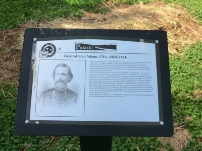 General John Adams, CSA Marker image. Click for full size.