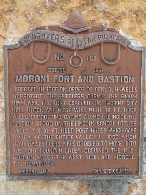 Moroni Fort and Bastion Marker image. Click for full size.