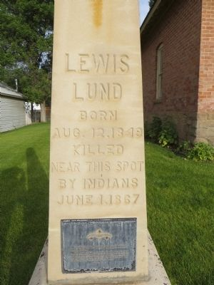 Lewis Lund Marker image. Click for full size.