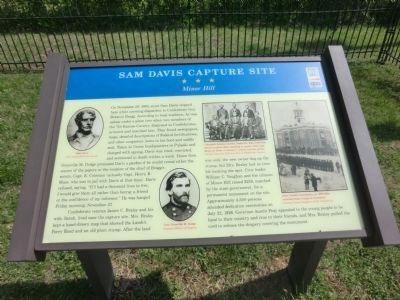 Sam Davis Capture Site Marker image. Click for full size.