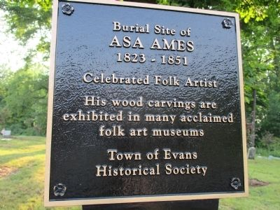 Asa Ames Marker image. Click for full size.