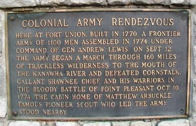 Colonial Army Rendezvous Marker image. Click for full size.