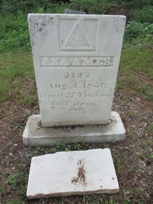 Burial Site of Asa Ames 1823-1851 image. Click for full size.
