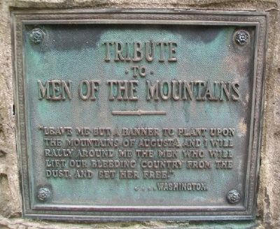 Tribute to Men of the Mountains Marker image. Click for full size.