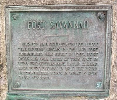 Tribute to Men of the Mountains - Fort Savannah Marker image. Click for full size.