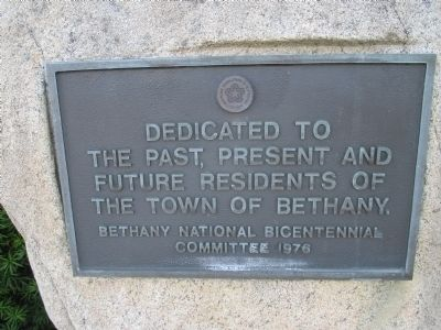 Bethany Residents Plaque image. Click for full size.