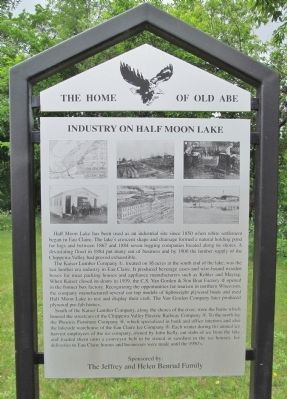 Industry on Half Moon Lake Marker image. Click for full size.