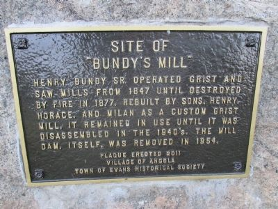 "Site of ""Bundy's Mill"" Marker image. Click for full size."