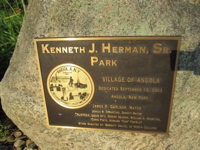 Kenneth J. Herman, Sr. Park Plaque image. Click for full size.