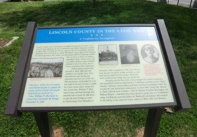 Lincoln County in the Civil War Marker image. Click for full size.