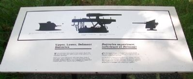 Upper, Lower, Belmont Batteries Marker image. Click for full size.
