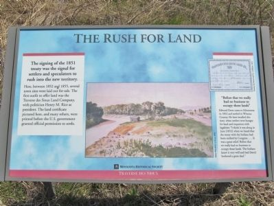 The Rush for Land Marker image. Click for full size.