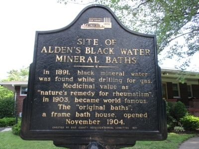 Site of Alden's Black Water Mineral Baths Marker image. Click for full size.