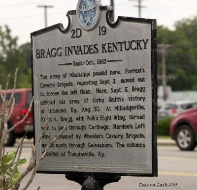 Bragg Invades Kentucky Marker image, Touch for more information