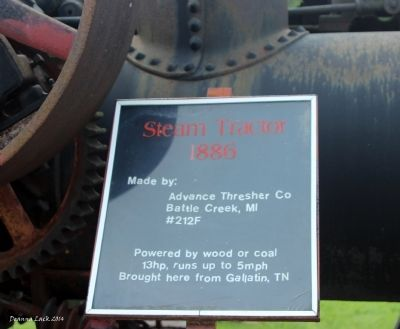 Steam Tractor 1886 Marker image. Click for full size.