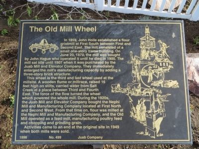 The Old Mill Wheel Marker image. Click for full size.