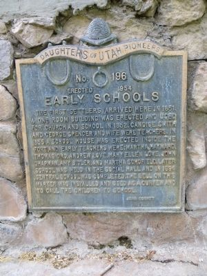 Early Schools Marker image. Click for full size.