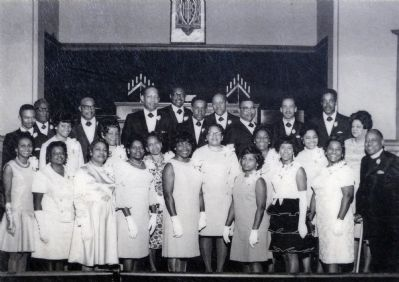 The Senior Ushers Board of Canaan Baptist Church, 1969 image. Click for full size.