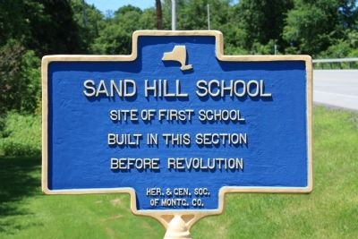 Sand Hill School Marker image. Click for full size.
