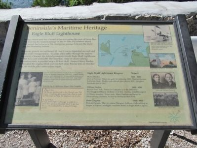 Eagle Bluff Lighthouse Marker image. Click for full size.