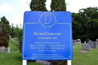 Salem Cemetery Marker image. Click for full size.