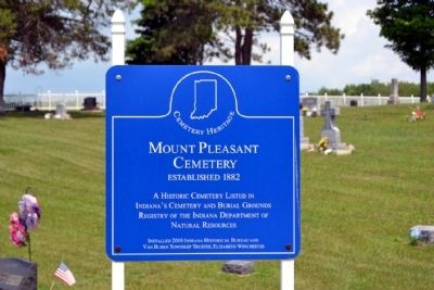 Mount Pleasant Cemetery Marker image. Click for full size.