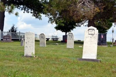 Headstones of Mount Pleasant Cemetery image. Click for full size.