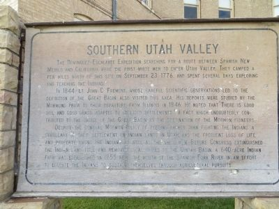 Southern Utah Valley Marker image. Click for full size.