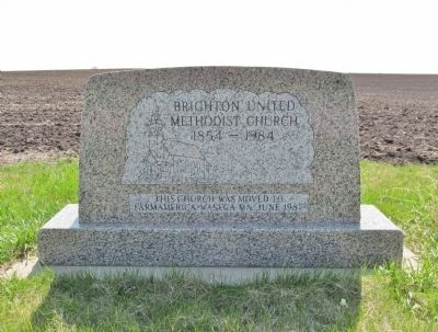 Brighton United Methodist Church Marker image. Click for full size.