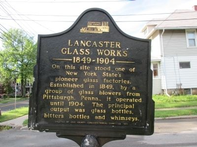 Lancaster Glass Works Marker image. Click for full size.