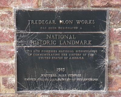Tredegar Iron Works Marker image. Click for full size.