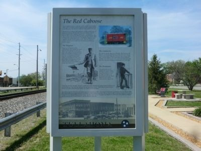 The Red Caboose Marker image. Click for full size.