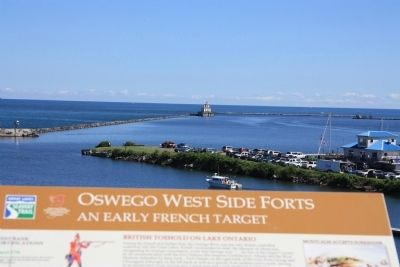 Oswego Harbor West Pierhead Lighthouse Marker image. Click for full size.