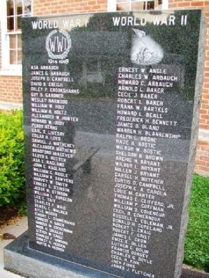 Greenbrier County War Memorial image. Click for full size.