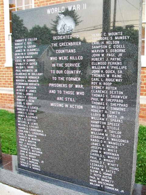 Greenbrier County War Memorial