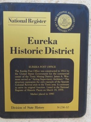 Eureka Post Office Marker image. Click for full size.