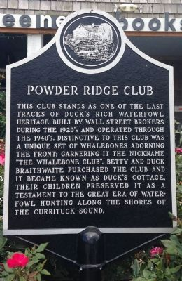 Powder Ridge Club Marker image. Click for full size.