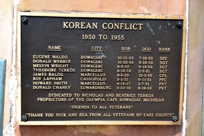 Cass County Veterans Memorial - Panel 2 image. Click for full size.