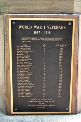 Cass County Veterans Memorial - Panel 5 image. Click for full size.