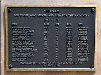 Cass County Veterans Memorial - Panel 7 image. Click for full size.