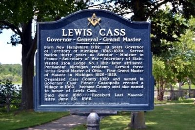 Lewis Cass Marker image. Click for full size.