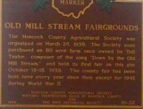 Old Mill Stream Fairgrounds Marker image. Click for full size.