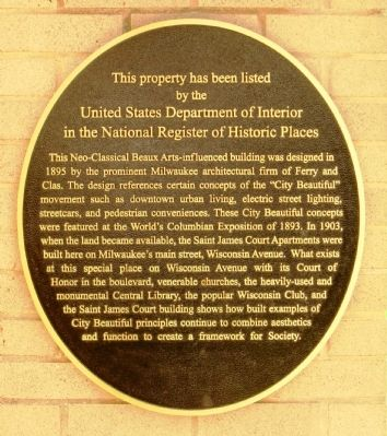Saint James Court Marker image. Click for full size.