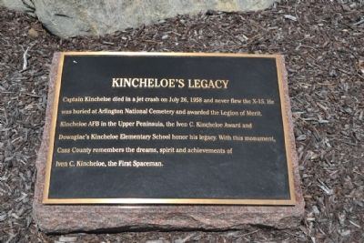 Captain Iven C. Kincheloe Memorial - Marker 4 image. Click for full size.