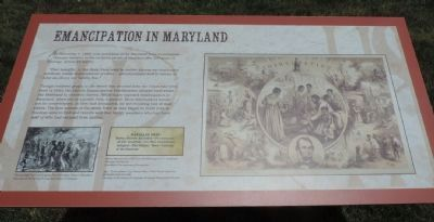 Emancipation in Maryland Marker image. Click for full size.
