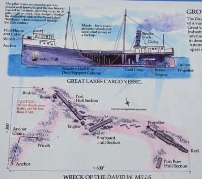 Wreck of the David W. Mills Marker image. Click for full size.