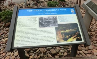 The Great Craighead Cave Marker image. Click for full size.