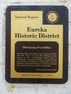 Old Eureka Post Office Marker image. Click for full size.