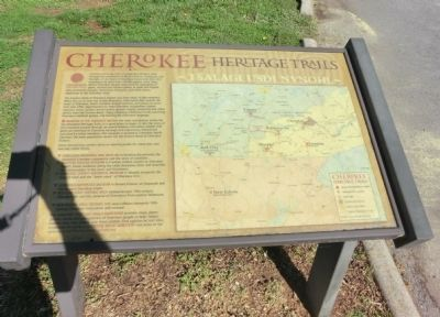 Cherokee Heritage Trails Marker image. Click for full size.