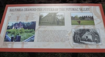 Salubria Changed the Future of the Potomac Valley Marker image. Click for full size.